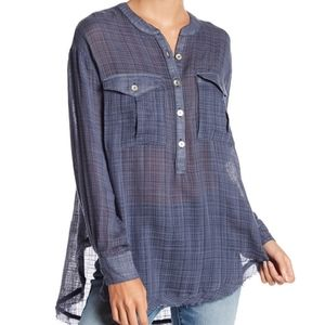 Free People Talk To Me Top Blue Size XS